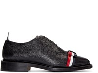 Thom Browne Black Leather Bow Oxfords