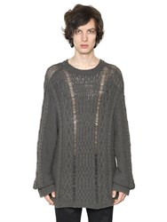 Maison Martin Margiela Oversize Alpaca Blend Cable Knit Sweater