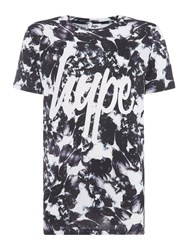 Hype Regular Fit Monotone All Over Floral Print Tshirt Black