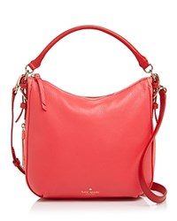 Kate Spade New York Cobble Hill Color Block Small Ella Crossbody Crab Red Coral Sunset Parrot Feather