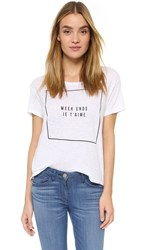 Sundry Week Ends Tee White