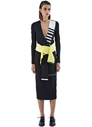 Preen Dionnet Wrap Over Belted Top Black