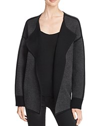 Magaschoni Reversible Cashmere Sweater Coat Charcoal Black