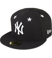 New Era 59Fifty York Yankees Fitted Cap Black White