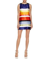Alice Olivia Clyde Striped Shift Dress 100 Bloomingdale's Exclusive Bold Multi Stripe
