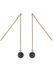 Isabel Marant 'The Party' Chain Earrings Black