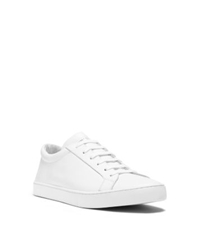 Michael Kors Jake Leather Sneaker Optic White