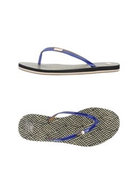 Aerin Thong Sandals Blue