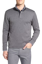 Boss Men's 'Sidney' Regular Fit Quarter Zip Pullover Grey