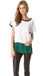 Robert Rodriguez Zip Neoprene Top Ivory