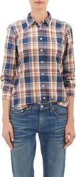 Steven Alan Plaid Shirt Blue Size M