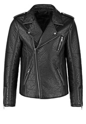 Freaky Nation Luo Faux Leather Jacket Black