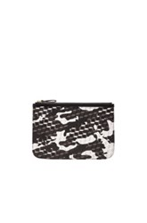 Pierre Hardy Pm Pouch In Black Gray Abstract Geometric Print