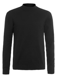 Topman Mini Roll Neck Jumper Black