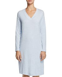 Hanro Champagne Long Sleeve Gown Ashley Blue