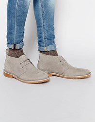 Jack And Jones Jack And Jones Gobi Suede Chukka Boots Gray