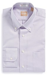 Gitman Brothers Vintage Men's Big And Tall Gitman Regular Fit Pinpoint Cotton Oxford Button Down Dress Shirt Lavender