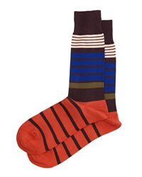Jack Striped Socks Brown Multi Brown Paul Smith
