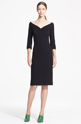 Nina Ricci Ballet Neck Wool And Cashmere Dress Black