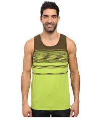 Prana Throttle Tank Top Macaw Stripe Men's Sleeveless Green
