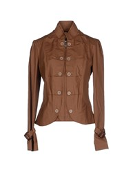 Amy Gee Suits And Jackets Blazers Women Khaki