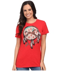 Double D Ranchwear Spirit Horse Top Prairie Poppy Women's T Shirt Red