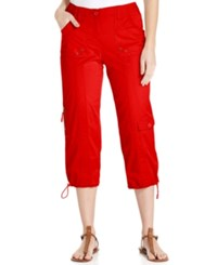 Styleandco. Style And Co. Cargo Capri Pants New Red Amore