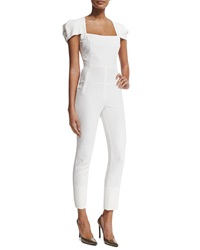 Roland Mouret Capsule Collection Galaxy Square Neck Jumpsuit White