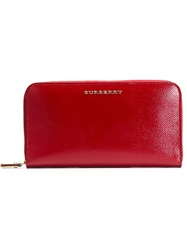 Burberry London Patent London Leather Wallet Red