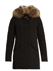 Woolrich Luxury Arctic Fur Trimmed Padded Parka Black