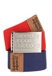 Superdry Belt In A Tin Pack Of Two Navy And Red