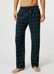 Topman Black Check Pyjama Bottoms