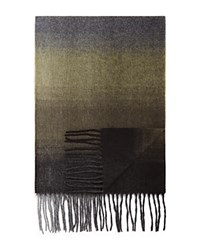 Bloomingdale's The Men's Store At Ombre Scarf Olive Grey