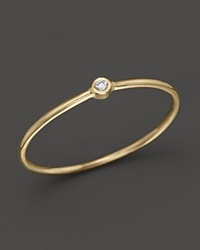 Zoe Chicco 14K Yellow Gold Thin Band Ring With Diamond