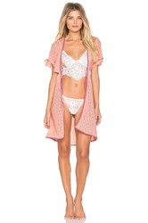 For Love And Lemons Cindy Robe Blush