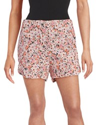 French Connection Floral Crepe Shorts Fizi Pink
