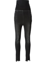 Demobaza High Waist Cropped Denim Leggings Black