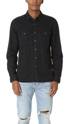 Current Elliott Ruler Fit 2 Pocket Shirt Ink Black