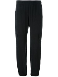 Theory Flap Pocket Straight Trousers Black