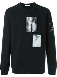 Givenchy Contrast Patch Sweatshirt Black