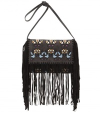 Isabel Marant Shiloh Embroidered Suede Clutch Grey