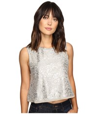 Free People Casual Fancy Top Taupe Women's Sleeveless