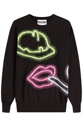 Moschino Printed Cotton Pullover Black