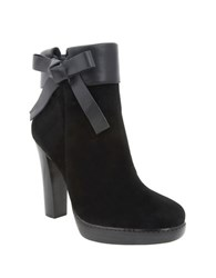 Nina Nell Leather And Suede Ankle Boots Black