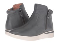 Gentle Souls Harper Granite Leather Women's Shoes Gray