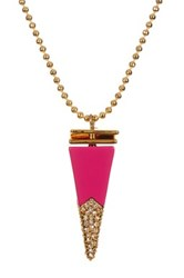 Trina Turk Stacked Cone Pendant Necklace Pink