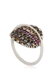 Fabrizio Riva Natural White Gold Midi Finger Ring