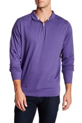 Peter Millar Interlock Quarter Zip Sweatshirt Purple