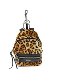 Saint Laurent Leopard Backpack Keychain Leopard Black