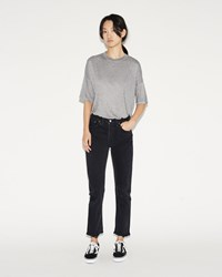 Re Done High Rise Ankle Crop Jean Black